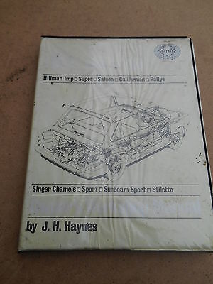 HILLMAN IMP,CALIFORNIAN,SPORT,RALLYE,CHAMOIS,STILETTO HAYNES MANUAL 1963-1971 b2