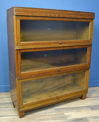 Antique Oak Art Deco Globe Wernicke Barristers Bookcase Circa 1920