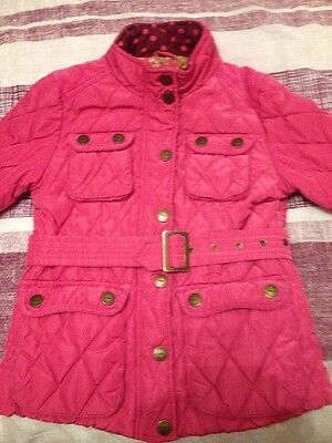 Next Girls Pink Quilted Coat Age 7-8 Years!!
