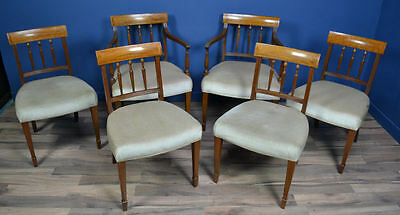 Antique / Edwardian Inlaid Mahogany Dining Chairs Circa 1900 Maple & Co