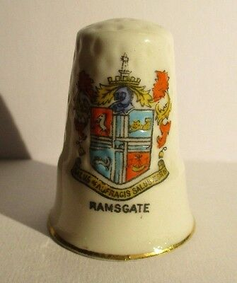 Vintage Crested China Thimble - Ramsgate - Imperial Bazaar Inscription