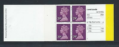 GB £1.16 BOOKLET CONTAINING 4 X 29p WORLDWIDE POSTCARD STAMPS (SG GG2)