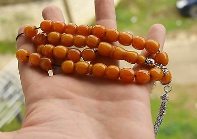 NEW WORRY PRAYER BEADS TESBIH (IMITATION BAKELITE CATALIN) 33 + 1    48 grams