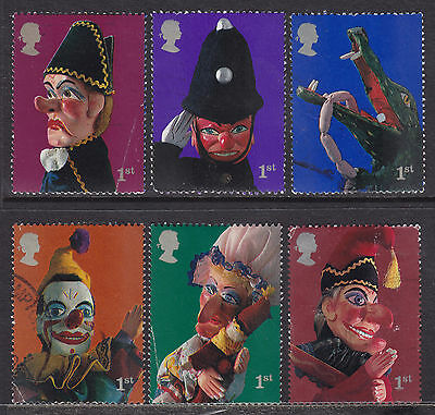 2001 GB Punch & Judy Puppets SG 2224-2229 Set Of 6 Used Commemorative Stamps