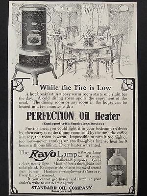 Antique 1907 Print Ad(D11)~Standard Oil Co. Perfection Stove And Rayo Lamp