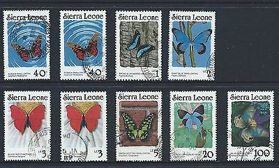 Sierra Leone Butterfly Stamps To Include Perf Changes And Top Value Of The Set