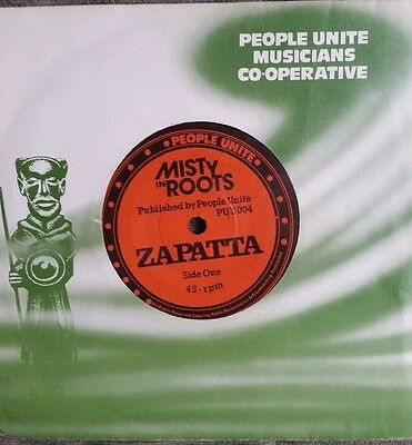 "Misty in Roots Zapatta 7"" vinyl single EX"