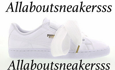 Puma Basket Heart Patent -White-White-White -Women Shoes Limited One 363073 02