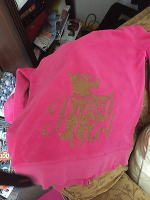 Juicy Couture Girls Pink Jacket Age 14 Good Condition