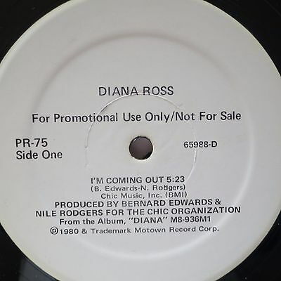 ☆ NM-  Diana Ross Im coming Out RARE 12 inch motown promo CHIC Nile Rodgers ☆