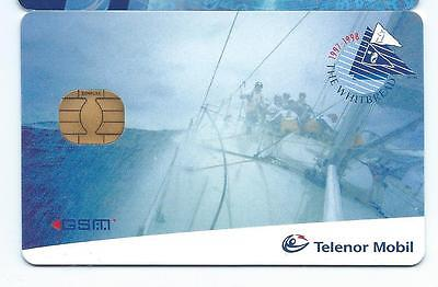 CARTE Telenor Mobil The Whitebread 1998 SIM GSM demo card TEST ESSAI SPECIMEN