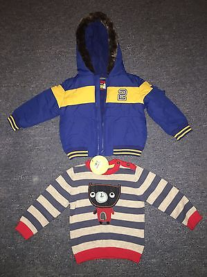 BOYS COAT AND JUMPER BOTH BRAND NEW AGED 12-18 Months