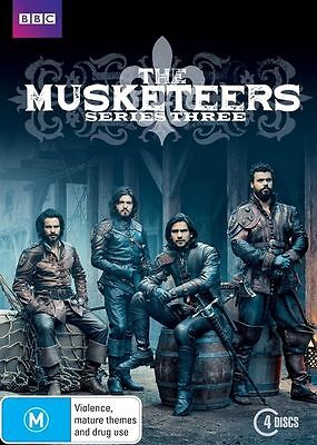 The Musketeers Series - Season 3 (DVD, 4-Disc Set) NEW