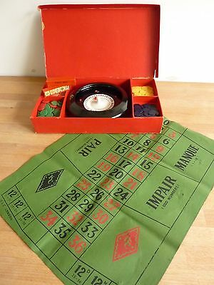Vintage 1950s K&C ROULETTE game with POKER DICE – made in England