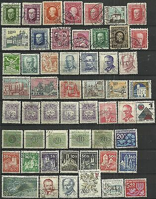 Czechoslovakia 54 used stamps as scan. Lot 1