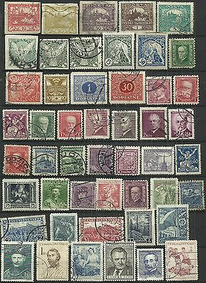 Czechoslovakia 49 used stamps as scan. Lot 2