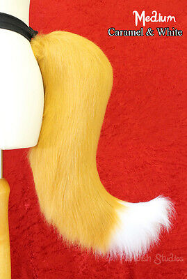 Fox Cosplay Tail for furries, costumes and dress up - 2 Colour