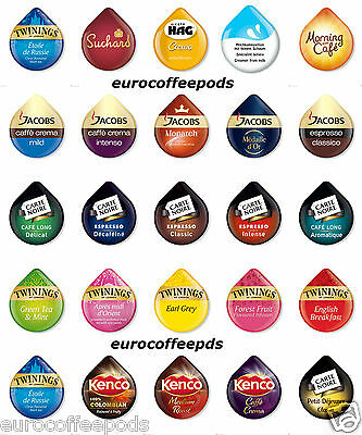 50 x Tassimo T-Disc - 38 Flavours To Select From, Sold Loose, Or Choose Your Own