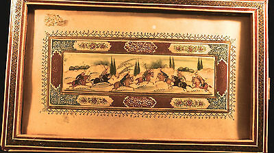 Persian  Miniature  Hand Painted Polo Scene