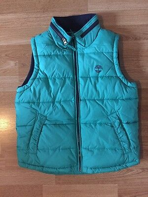 TIMBERLAND BOY GREEN BODY WARMER- 10 Years UK 138 cm