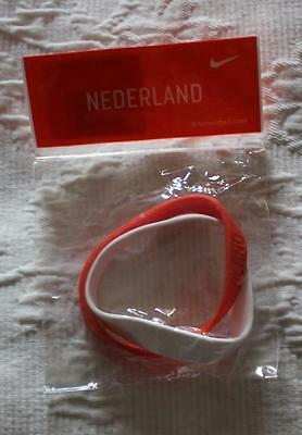 Genuine Nike Unisex Nederland Football 2006 One-Size Bracelet Orange-White