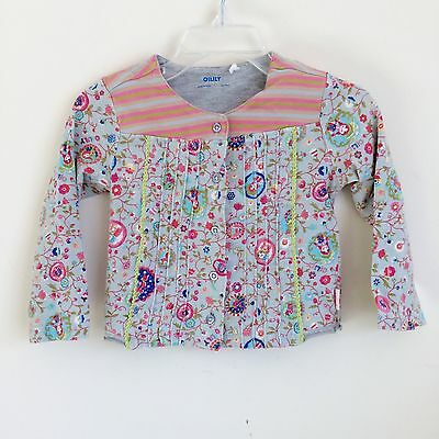Girls Oilily Multicolored Cotton Blend Long Sleeve Cardigan Size 80/ 18 Months