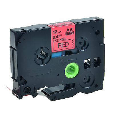 TZ TZe 431 Black on Red Laminated Label Tape For Brother P-touch GL-100 12mm