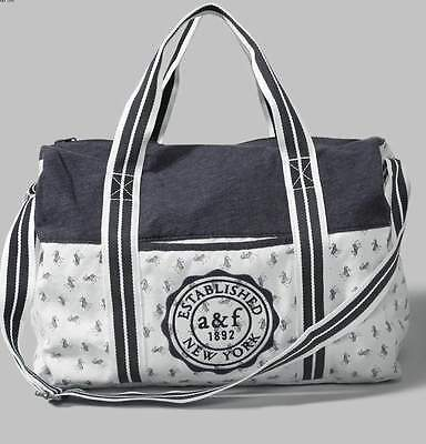 Nwt Abercrombie Kids - Large Logo Duffle Bag - Pink Or Off White