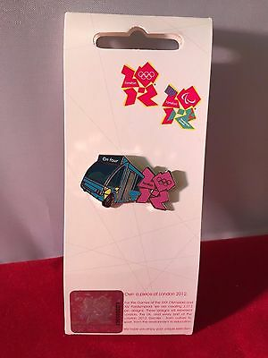 London 2012 Olympic Park Bus ON TOUR Enamel Badge Limited Edition BRAND NEW