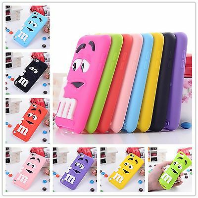 Cute 3D m&m Silicone Rubber Case Cover Skin For iPod Touch 6
