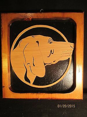 Unique Laser Cut Self Framed Wood Great English Pointer Dog Wall Plaque