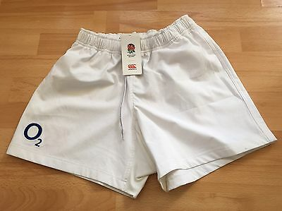Canterbury England Rugby White Home Shorts Size 30 - Bnwt