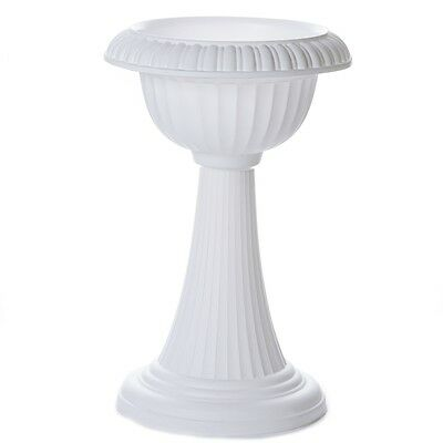 "4 pcs WHITE 23"" tall Wedding Italian Flower Pots Party Decorations"