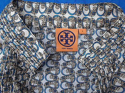 TORY BURCH silk blend tunic top size 8 AS NEW!!