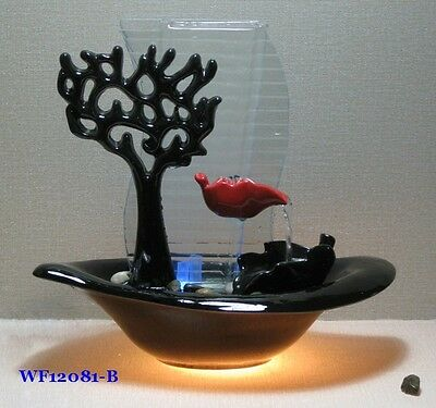 NEW!!! Modern Indoor Water feature w/LED light w/Pump and accessories! Ready2 go