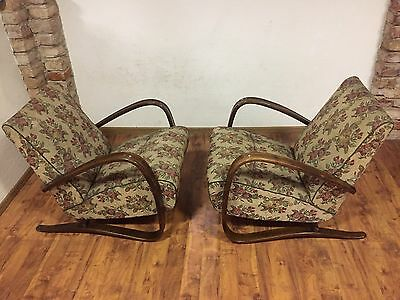Pair Of Armchairs H-269 By Jindrich Halabala art deco , first half 20th century.