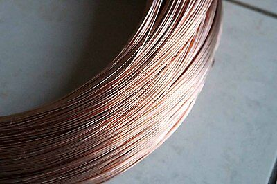 10 metres uncoated soft Copper Wire 1.16mm 17G AWG plating, jewellery, craft etc