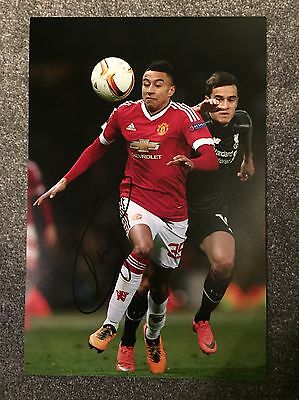 "Jesse Lingard Hand Signed 12x8"" Photograph Manchester United Autograph COA"