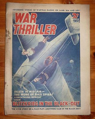 WAR THRILLER Vol 22 No 582 30TH MAR 1940  BLITZKRIEG IN THE BLACK OUT
