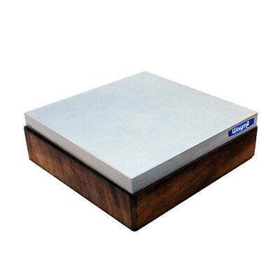"""BENCH BLOCK STEEL & WOOD BASE 4"""" SQUARE 1.4"""" THICK FLAT 4x4 JEWELRY MAKING TOOL"""