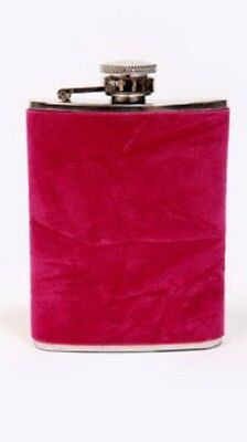 Urban Outfitters Gift Pink Velvet Drinking Hip Flask Unused