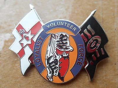 Lvf Loyalist Volunteer Force Enamel Badge