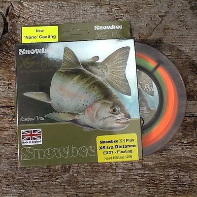 Snowbee XS-Plus XS-tra Distance Floating Fly Line Chartreuse/Orange EXDF