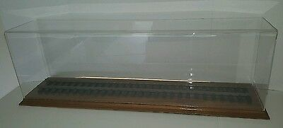 """30"""" Model train display case with 2"""" rail"""