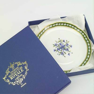 """Ancienne Manufacture Royale Limoges Marie Antoinette 5 1/8"""" Saucer/Plate in Box"""