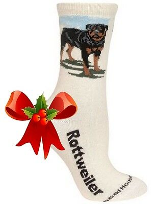 New! ROTTWEILER Socks by Wheelhouse~USA~MEDIUM~Christmas! Ships Free