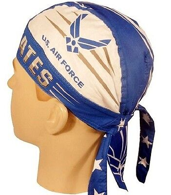 USAF Air Force Blue Headwrap Bandanna Sweatband Durag Capsmith Free Shipping