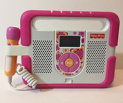 Fisher Price Kid Tough MP3 Music Player Microphone Pink