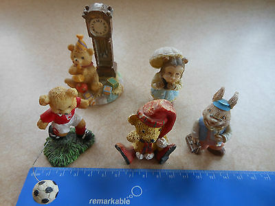 Rare Collectable Mixture of Animals Ornaments - Bears, Monkey & Rabbit