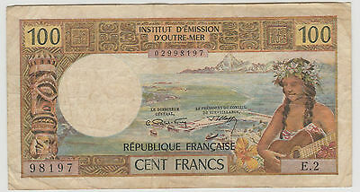 1971 100 Francs Noumea New Caledonia Note Circulated 405A